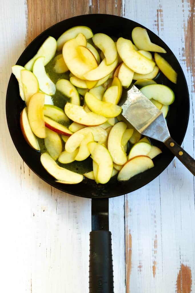 Add the Apples to a Pan