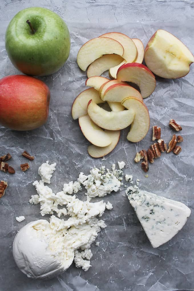 Apples, Mozzarella, Gorgonzola + Pecans
