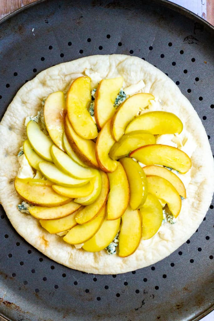 Top the Cheese with Apple Slices