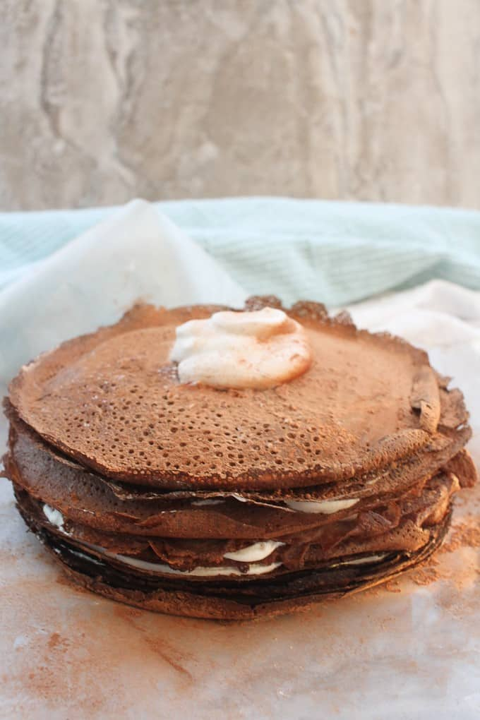 Bourbon Chocolate Crepe Cake