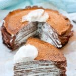 This Bourbon Chocolate Crêpe Cake is a Southern take on the classic French Gâteau Mille Crêpes.  This step-by-step tutorial will walk you through making this easy no-bake cake!