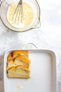 Dip Bread in Egg + Milk Mixture