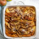 apple french toast bake in a serving dish