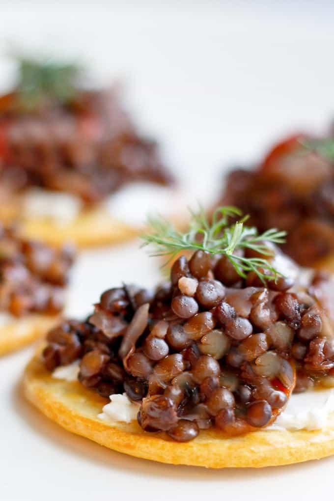 Beluga Lentil Caviar Fancy Vegan Appetizer