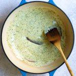 Stir Pesto Into Cheese Sauce