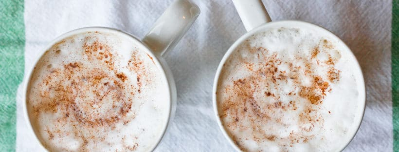 This vegan-friendly Pumpkin Spice Latte with REAL Pumpkin is a healthier alternative to the coffee-shop version. Do yourself (and your wallet) a favor, and make this tea latte at home! No artificial dye, no artificial flavoring, and REAL pumpkin. Champagne Tastes - http://champagne-tastes.com