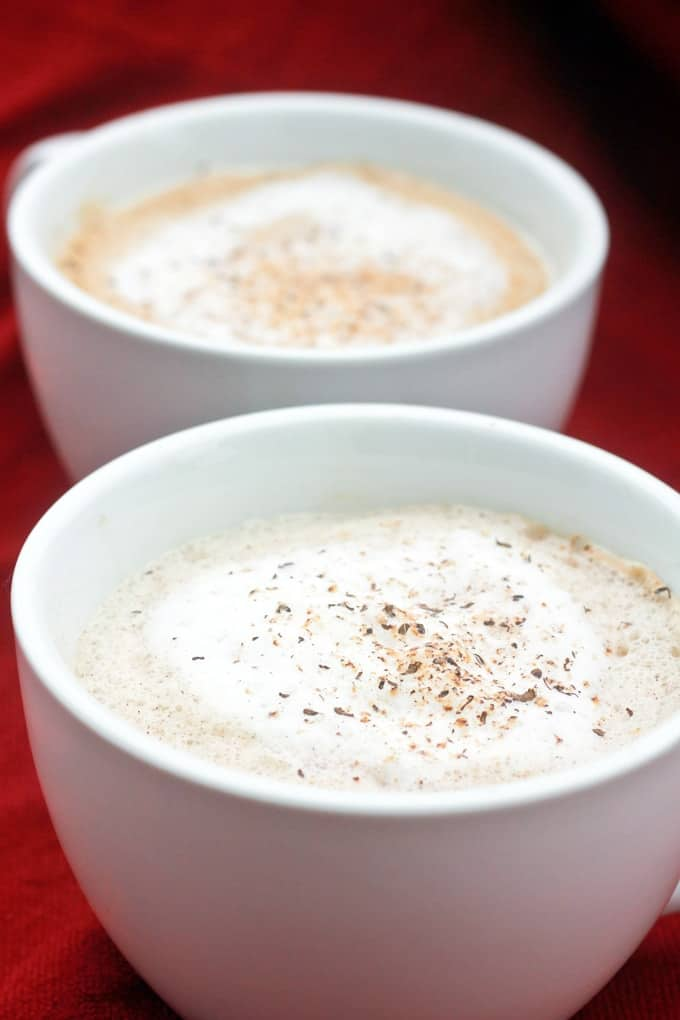 Eggnog Latte in cups