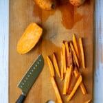 Cut Sweet Potatoes Into Fries