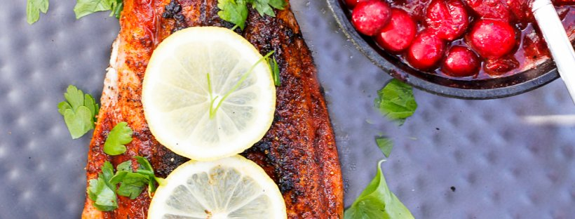 This Seared Paprika Salmon with Cranberry Chutney is a show-stopping seafood centerpiece. Both the salmon and chutney are ready, start to finish, in about 15 minutes.