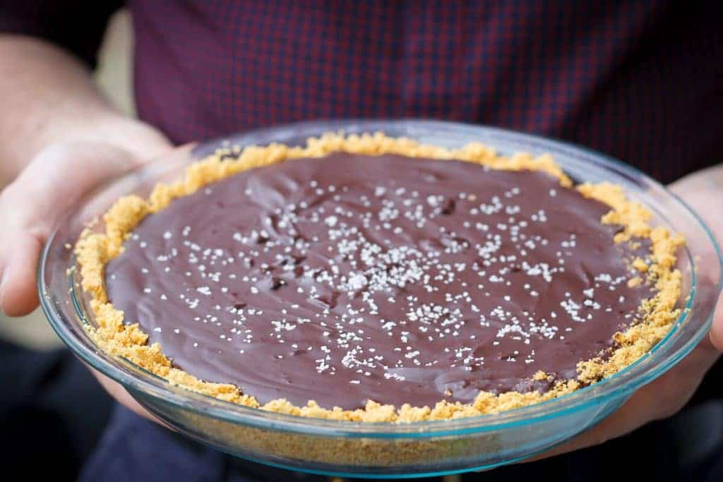 Carrying Salted Bourbon Chocolate Pie