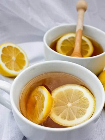 "This vegan-friendly Mint Tea Hot Toddy hot cocktail is the perfect ""get well"" drink for for cold winter days."