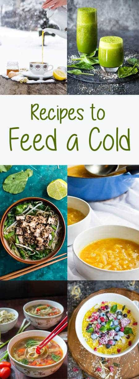 Foods to Eat When You Have a Cold: This cold and flu season, keep yourself hydrated and fortified with these vegan and vegetarian recipe ideas. #sick #recipes #vegan #soup #sickday