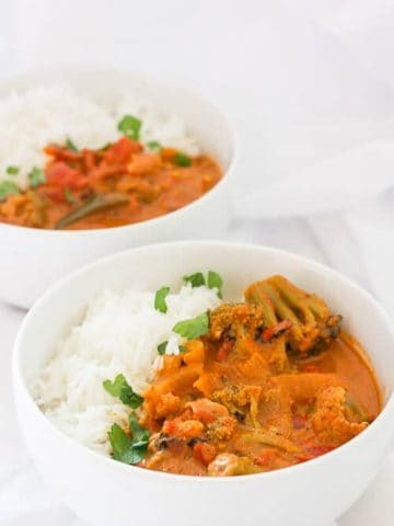 This vegan-friendly Slow Cooker Vegetable Masala is a delicious and easy Indian curry.