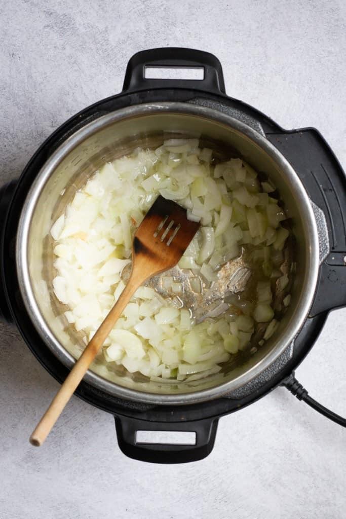 Soften Onions in Butter