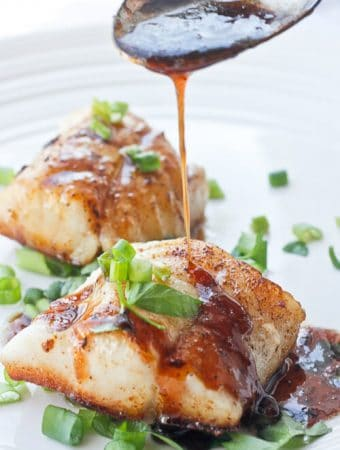 Kentucky Bourbon Seared Cod
