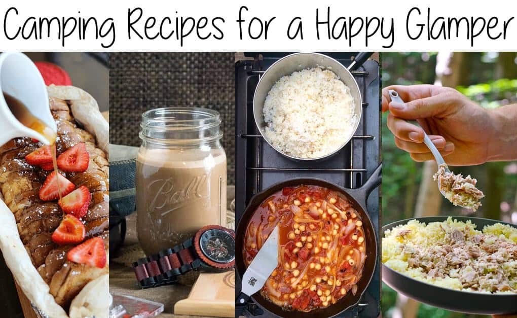Love camping, but want to kick it up a notch?  These Camping Recipes for a Happy Glamper will help you camp with style, and eat well while you're enjoying nature!