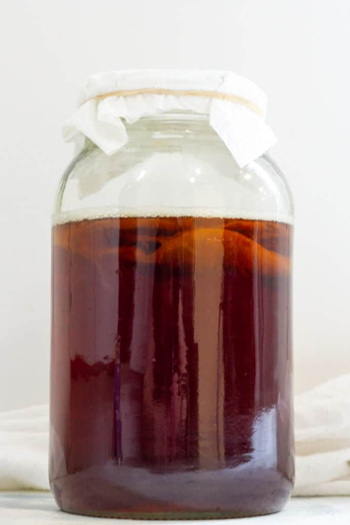 Fermenting Black Tea with SCOBY