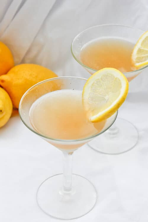 This Lavender Lemon Bourbon Sour is a sweet spring cocktail! Mix one up in no time with lavender simple syrup, lemon juice (or Myer lemon juice), and bourbon.