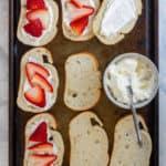 Add Mascarpone + Strawberries to Bread