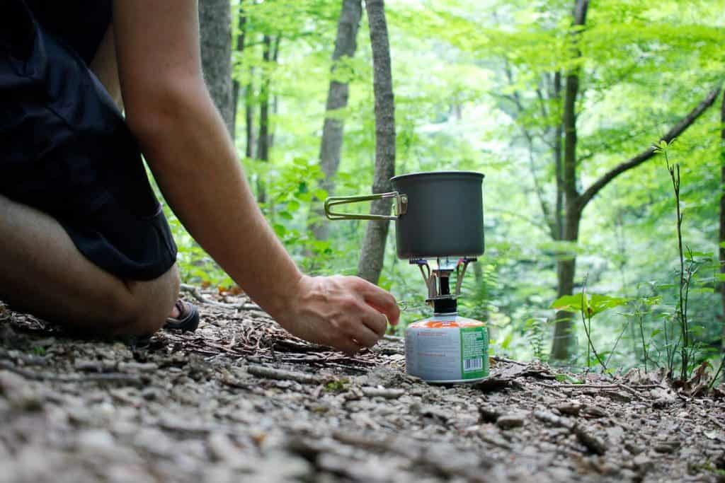 Cooking with a Backpacking Stove in the Woods