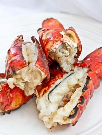 Grilled Bourbon Lobster Tails