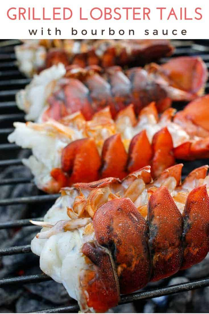 This simple Grilled Lobster Tail recipe walks you through how to cook lobster tails on the grill. Serve these with the easy bourbon sauce for a date night dinner!