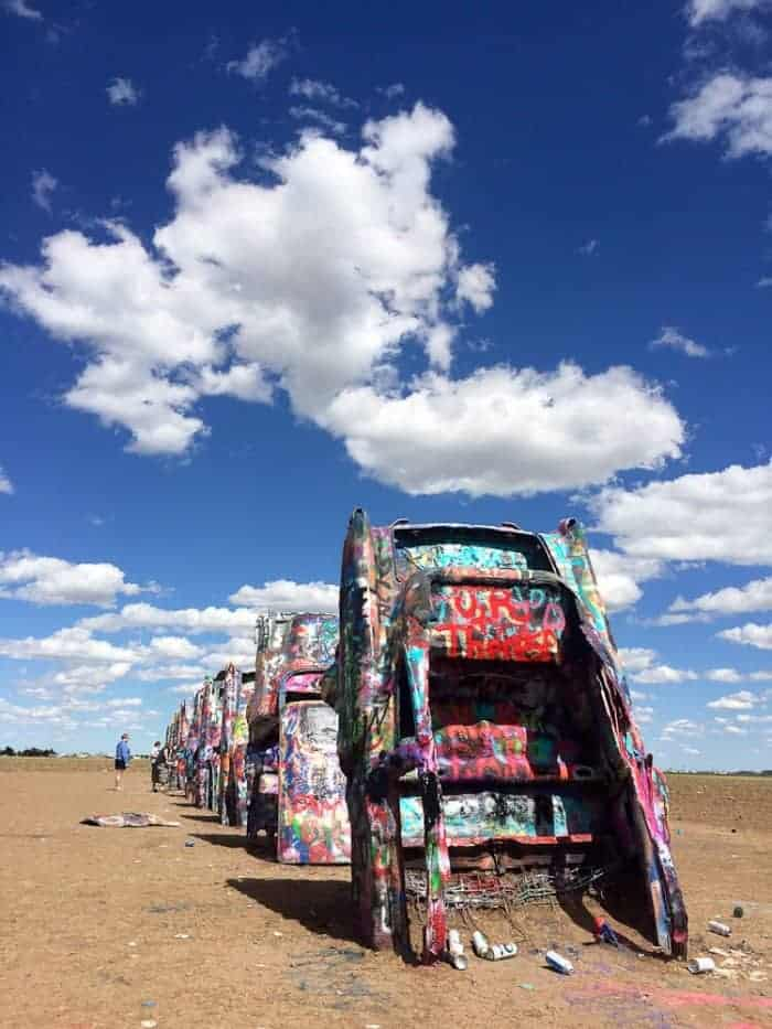 Stopping at Roadside Attractions- Cadillac Ranch in Texas