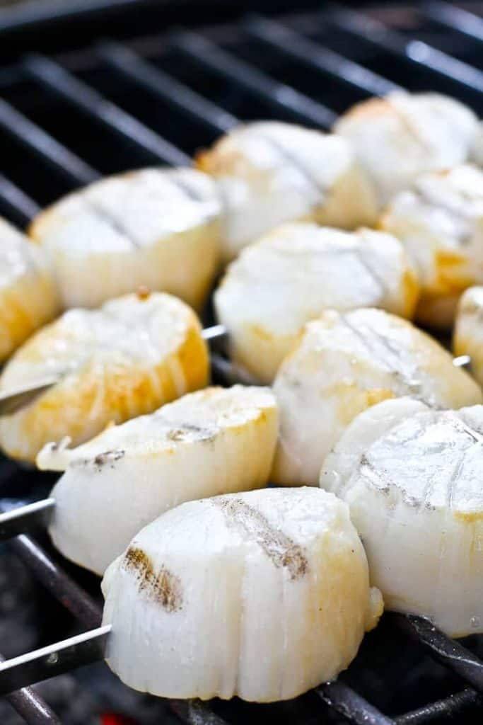 Grilling Scallops on Skewers