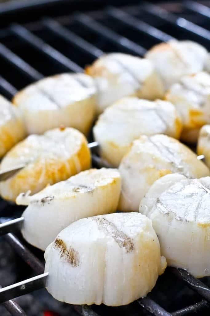 Grilling Scallops on Skewers
