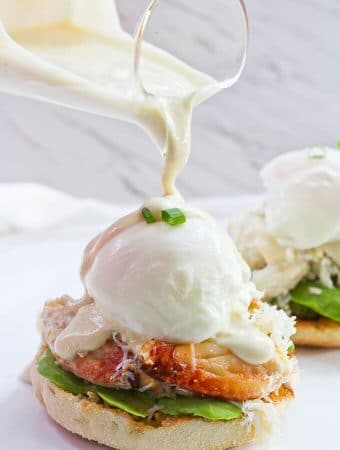 Healthy Crab Eggs Benedict