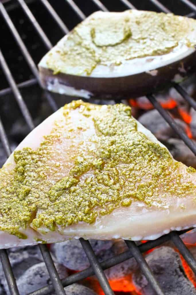Swordfish on a Charcoal Grill