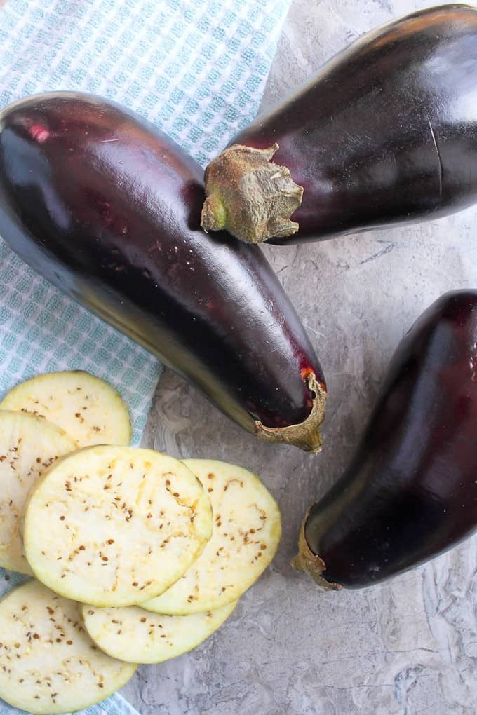 Eggplant and eggplant slices