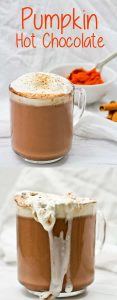 This easy and quick Pumpkin Spice Hot Chocolate is decadent, vegan-friendly, and perfect for fall!