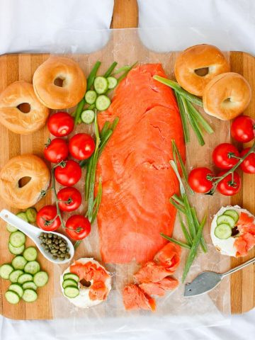 This Bagels and Lox breakfast spread is quick and easy, and perfect for both busy mornings and brunch with friends and family.