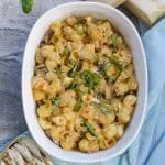 This Baked Seafood Macaroni and Cheese with Sardines is loaded with high-quality sardines, along with creamy Jarlsberg and Parmesan cheeses, and is an easy and flavorful side dish.