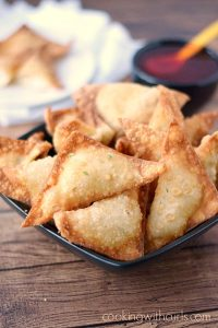 Dairy-Free Crab Rangoons - from Cooking with Curls