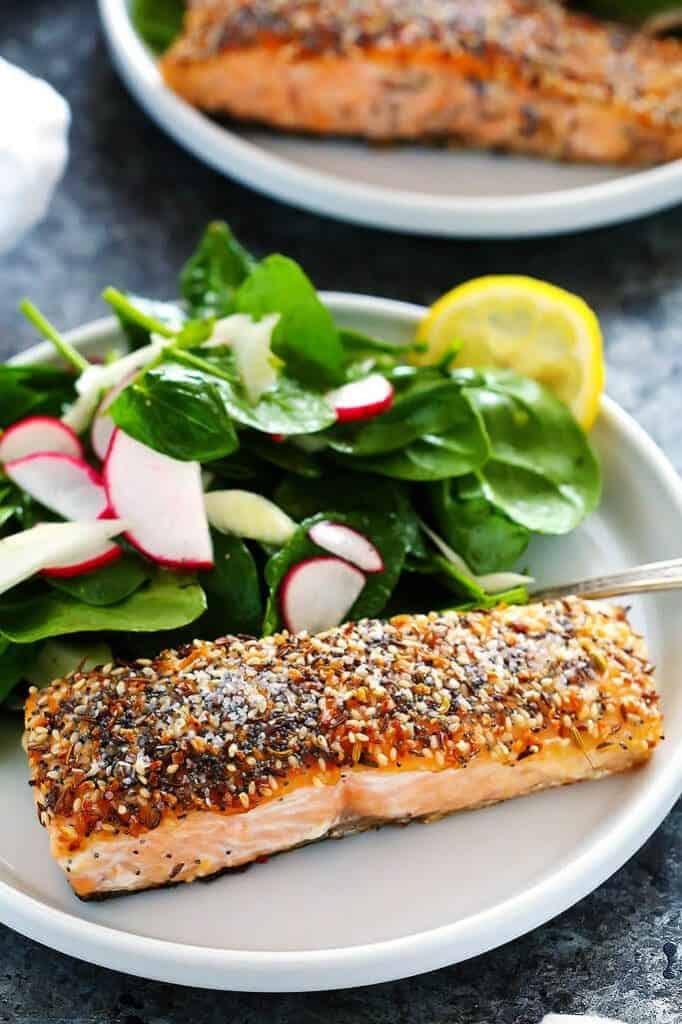 """Everything"" Crusted Salmon - from Platings + Pairings"