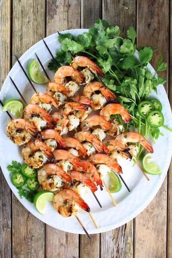 {Florida Pink Shrimp} Cilantro Lime Grilled Shrimp - from Taste + See