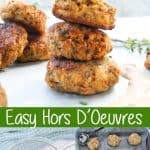 These mini Sardine Fish Cakes are served with a Spicy Yogurt Sauce, and are perfect to serve as Tapas or Hors D'Oeuvres. Sardines | Fish Cakes | Recipe | Easy