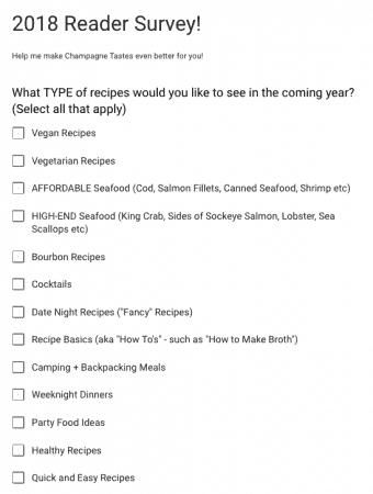 2018 Reader Survey
