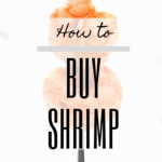"""graphic w an image of shrimp + text """"how to buy shrimp"""""""