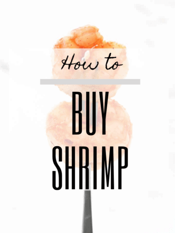 "graphic w an image of shrimp + text ""how to buy shrimp"""