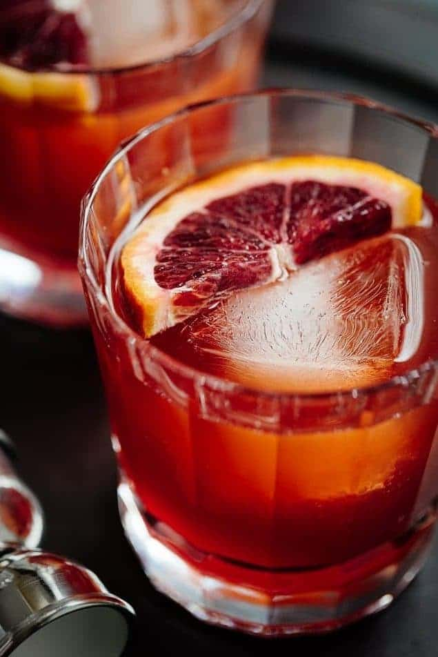 Blood Orange Boulevardier - from Striped Spatula
