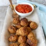 These easy fish meatballs with sardines are a take on the Mexican dish Albondigas de Pescado. Serve them with a quick and easy tomato sauce as an appetizer, or add them to pasta for seafood spaghetti and meatballs!