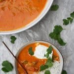 This easy Fish Tikka Masala is a quick seafood curry that's filled with comforting and warming spices, a creamy tomato sauce, and spicy sardines.