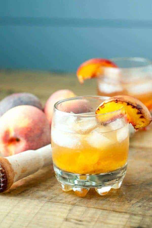 Roasted Peach Old Fashioned - from Mama Gourmand