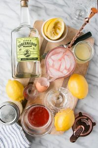 Rhubarb Pisco Sour - from My Kitchen Love