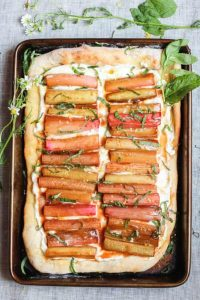Ricotta Flatbread with Rhubarb - from Abra's Kitchen