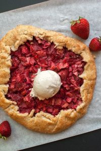 Strawberry Rhubarb Galette - from Let's Eat Cake