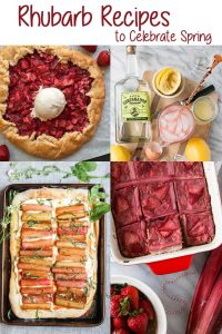 These Rhubarb Recipes help you welcome spring with one of nature's prettiest veggies-- rhubarb! These Rhubarb drinks, meals, and desserts will help you make the most of this pink vegetable's short season.